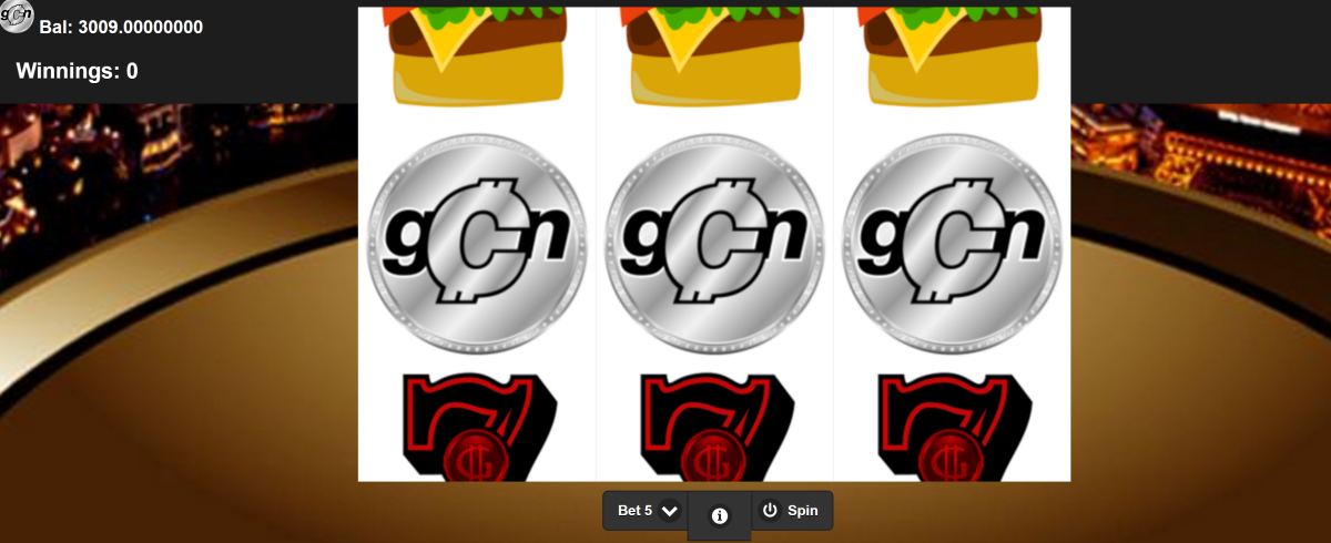 GCN Gcoin Casino Slot FREE GCN coins