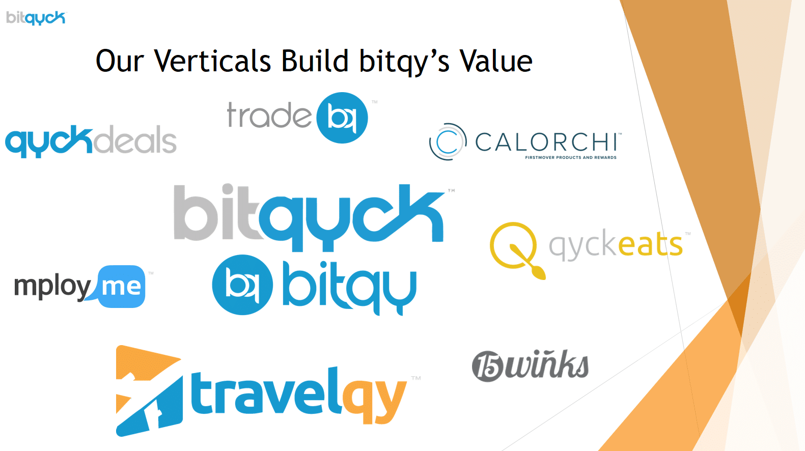 Bitqyck Verticals Build Bitqy's Value