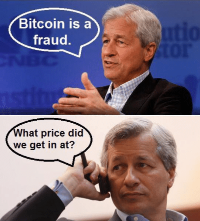 JP Morgan Jamie Dimon Buys Bitcoins